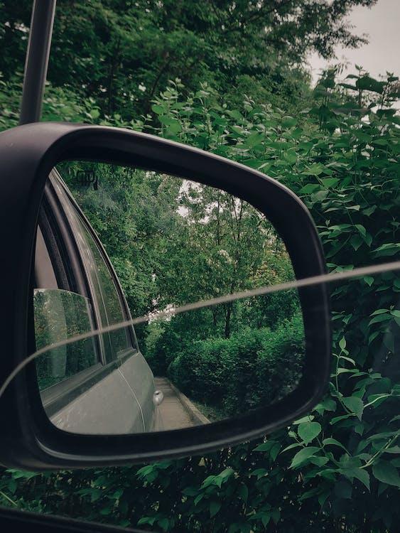 Taking Photo Using Black Vehicle Side Mirror