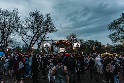 Kostenloses Stock Foto zu bäume, bühne, event, festival