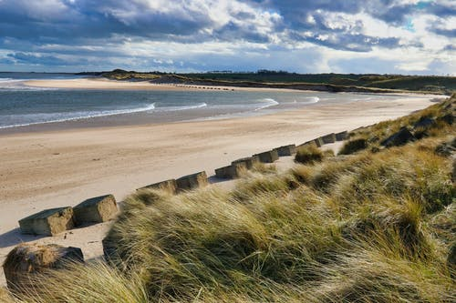Free stock photo of Alnmouth, Alnmouth Beach, beach, blue sky