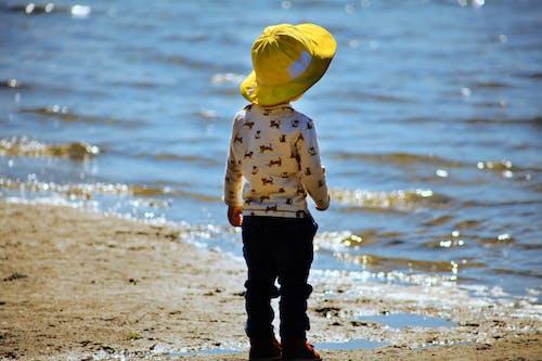 Imagine de stoc gratuită din fată de plajă nisip galben plajă
