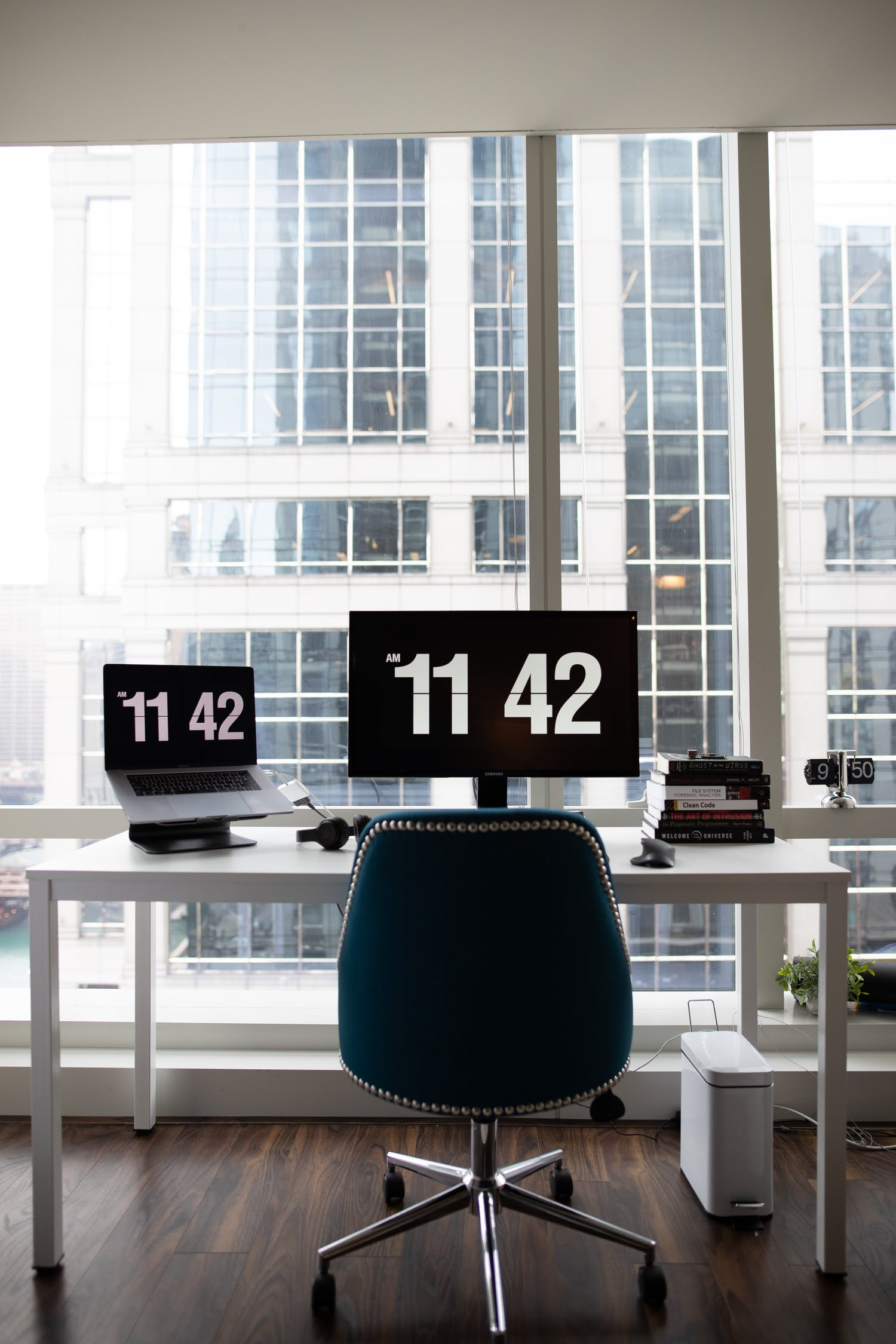 Flat Screen Monitor In An Office