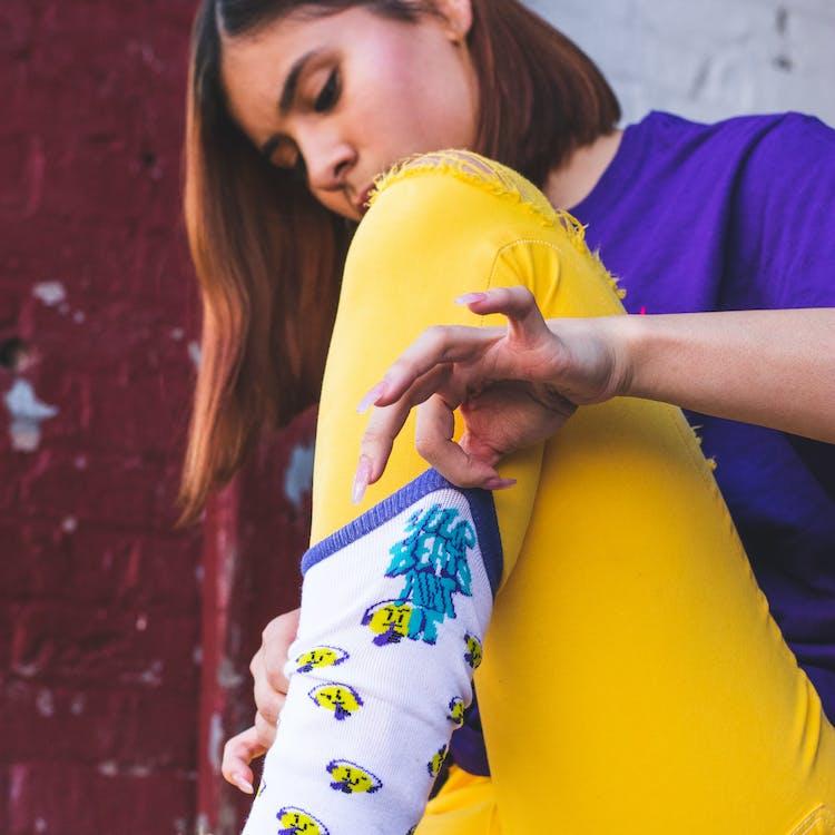 Woman Wearing White Sock