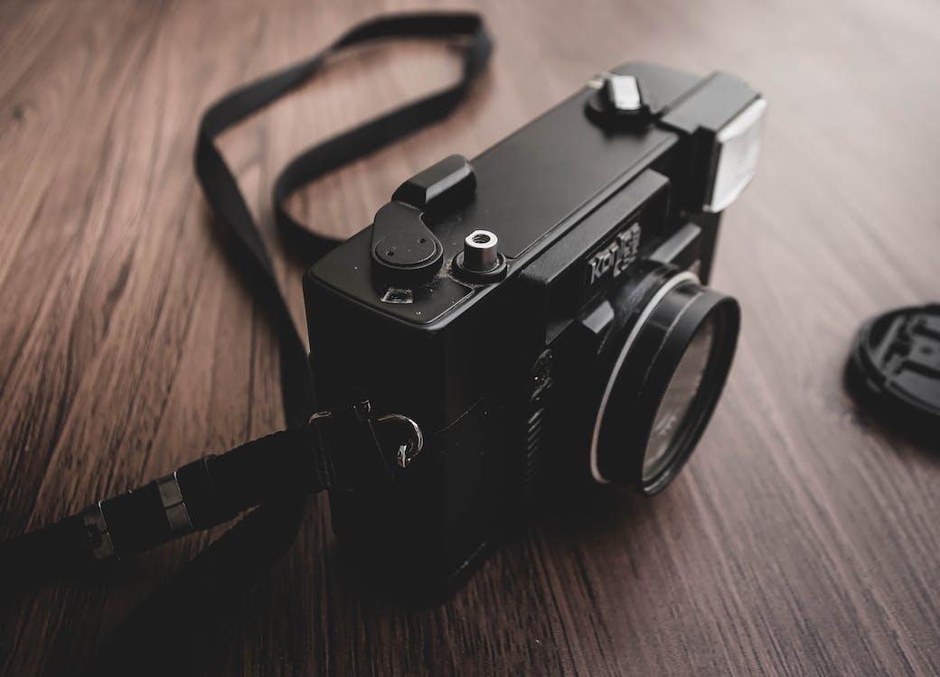аналогова камера, великий план, всередині