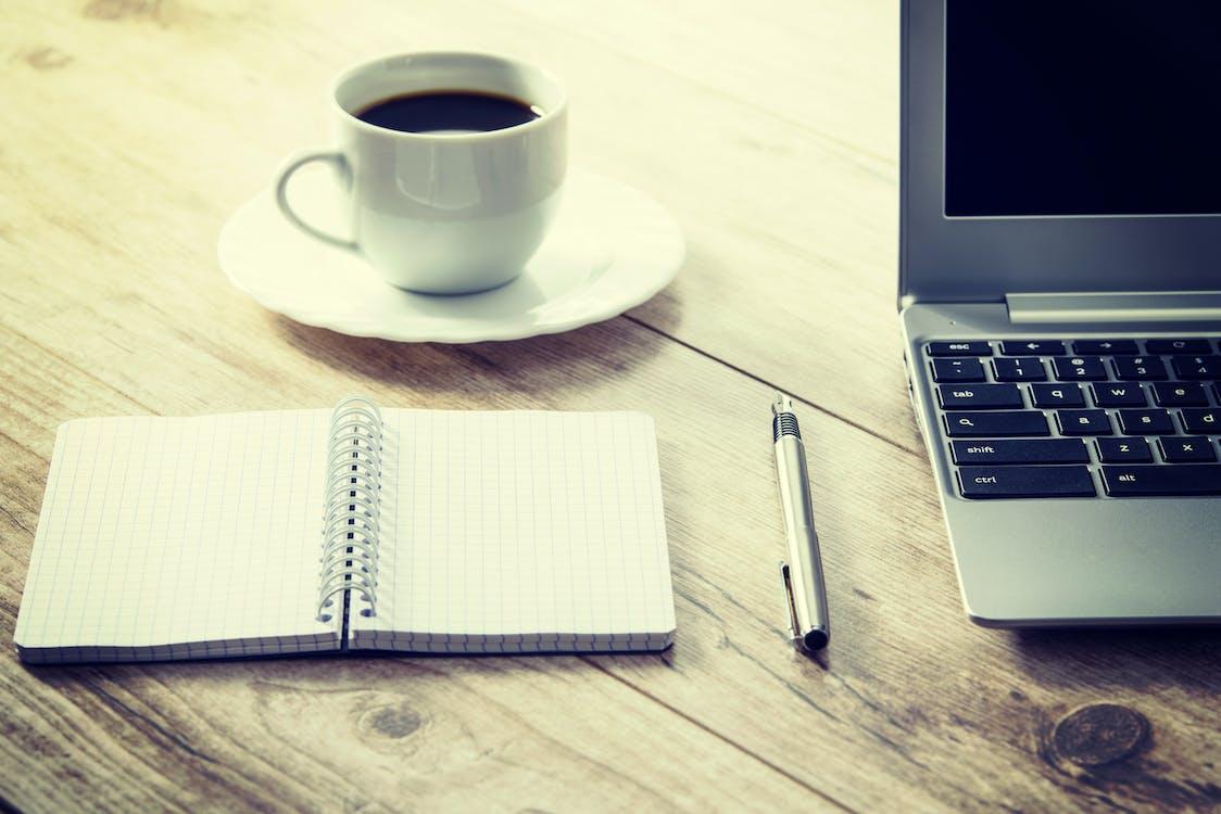 balcão, bebida, caderno