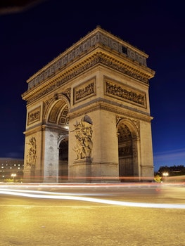 Free stock photo of cars, france, landmark, lights