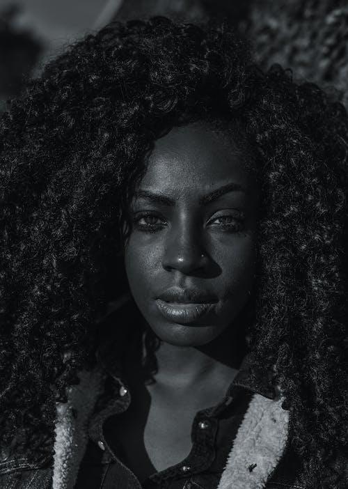 Immagine gratuita di adulto, africano, anello al naso, bianco e nero