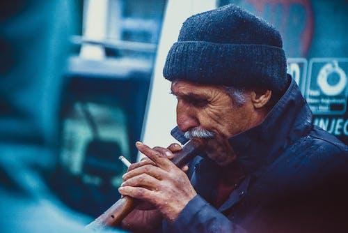 Immagine gratuita di adulto, anziano, baffi, berretto