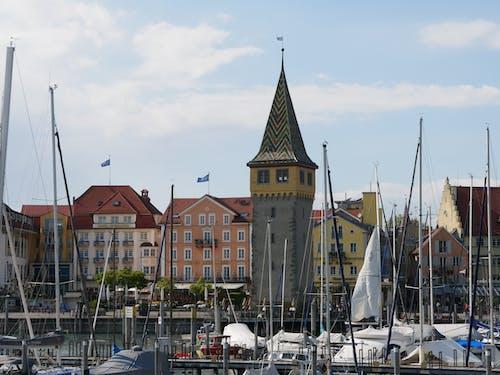 Free stock photo of historic center, port, sailing ships