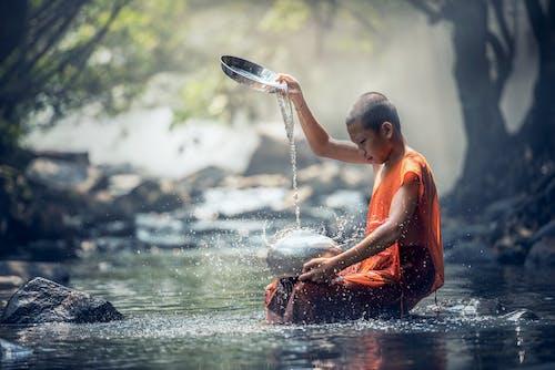 Ingyenes stockfotó Ázsia, buddhisták, buddhizmus, csobbanás témában