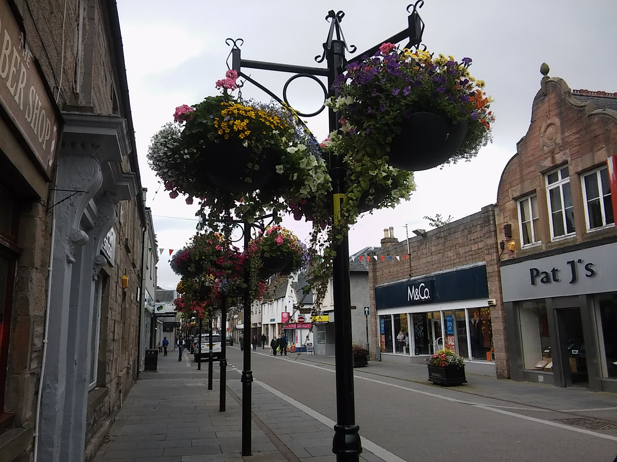 Free stock photo of dingwall, flowers, high street, old town