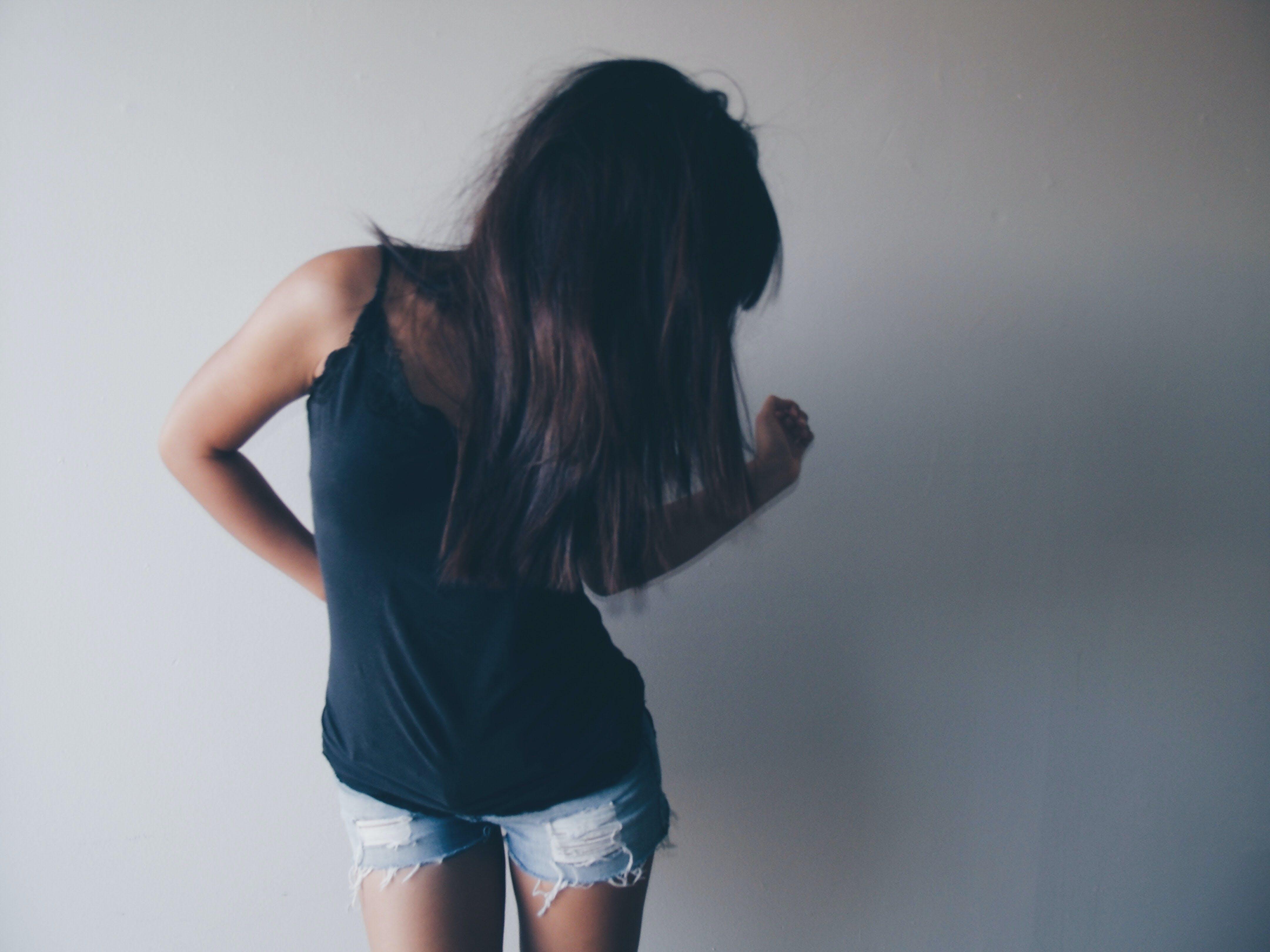 Women's Black Sleeveless Shirt