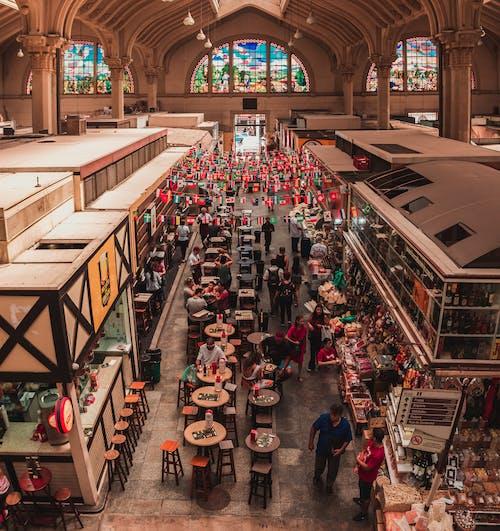 Photos gratuites de à l'intérieur, aérien, aliments, architecture