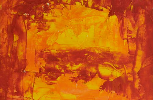 Photo of Orange Abstract Painting