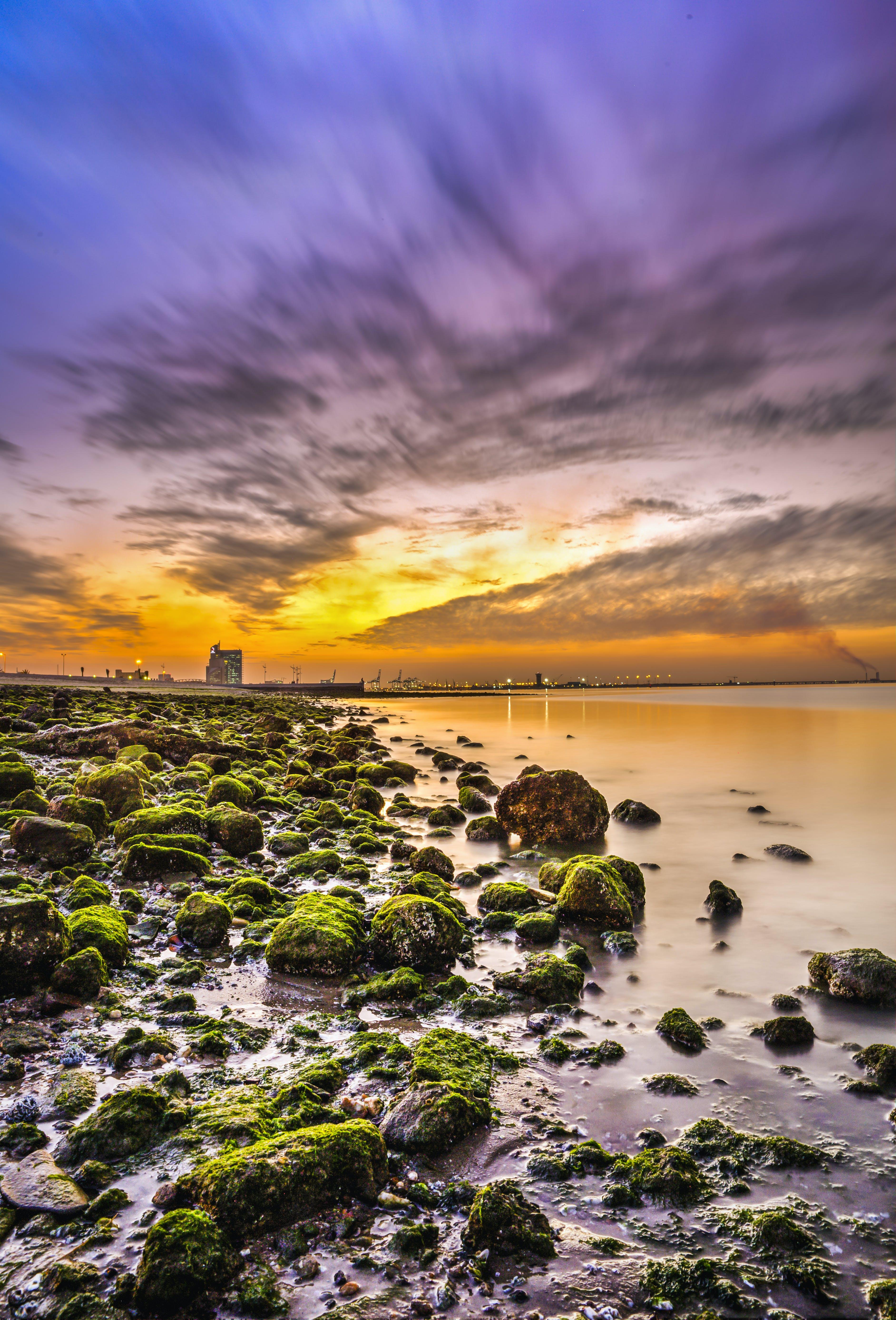 Gratis lagerfoto af kuwait, shuwaikh, shuwaikh port, solnedgang