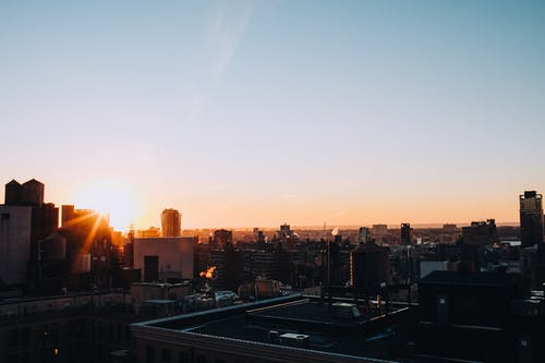 Sunset View Over The City