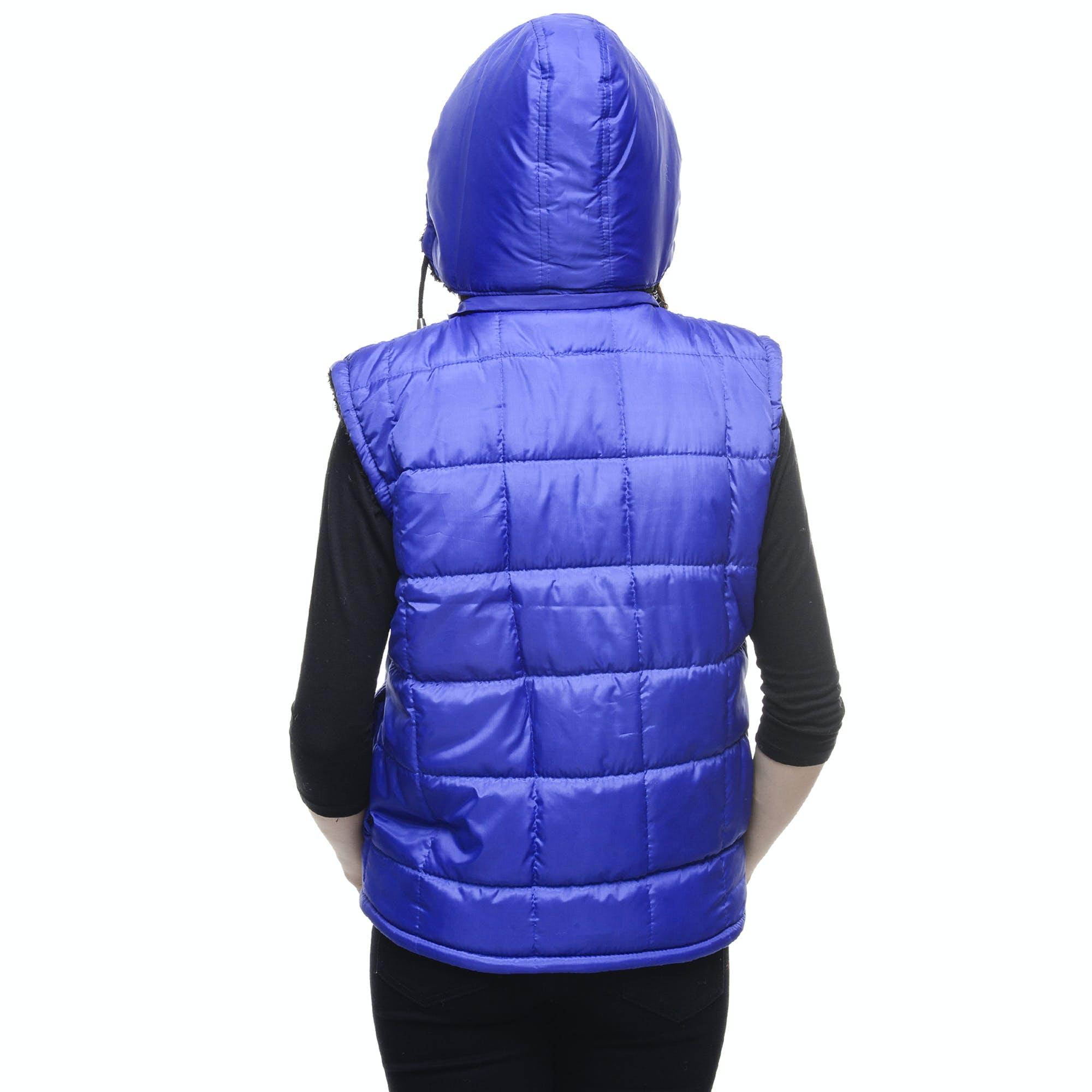 Blue Bubble Vest Hoodie