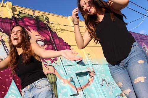 Fotobanka sbezplatnými fotkami na tému bruneta, dievčatá, najlepší priatelia, priatelia