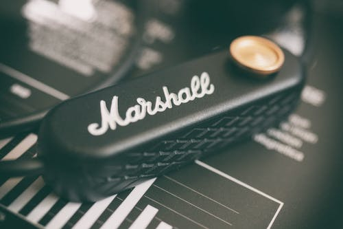 Free stock photo of headphones, macro photography, marshall, minorII