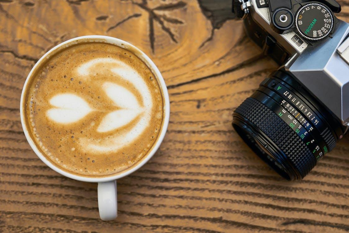 art latte, beguda, beure