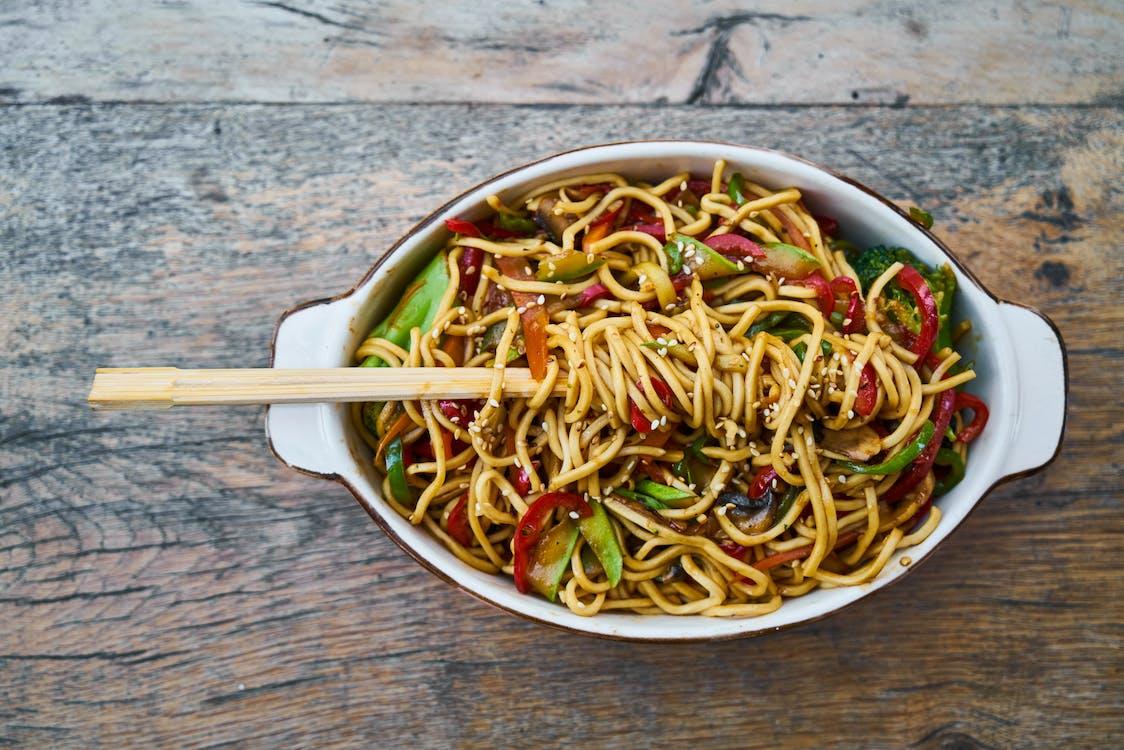Stir Fry Noodles in Bowl