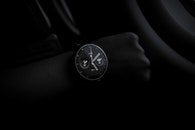 black-and-white, dark, wristwatch