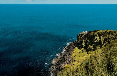 Kostnadsfri bild av fågelperspektiv, från ovan, fyr, hav