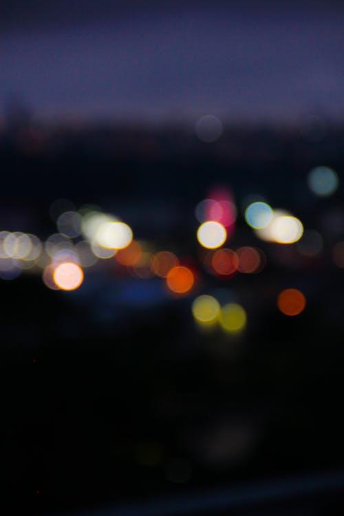 Ảnh lưu trữ miễn phí về ánh đèn thành phố, ảnh đường phố, ánh sáng chói, bị mờ
