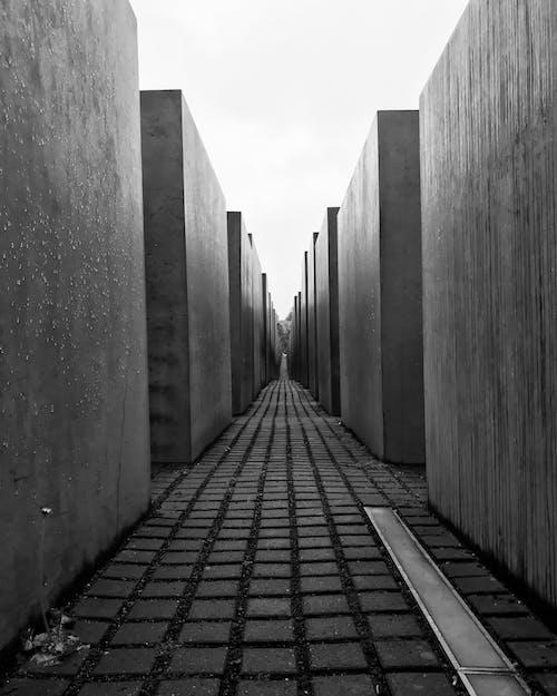 Foto d'estoc gratuïta de a l'aire lliure, arquitectura, art, blanc i negre