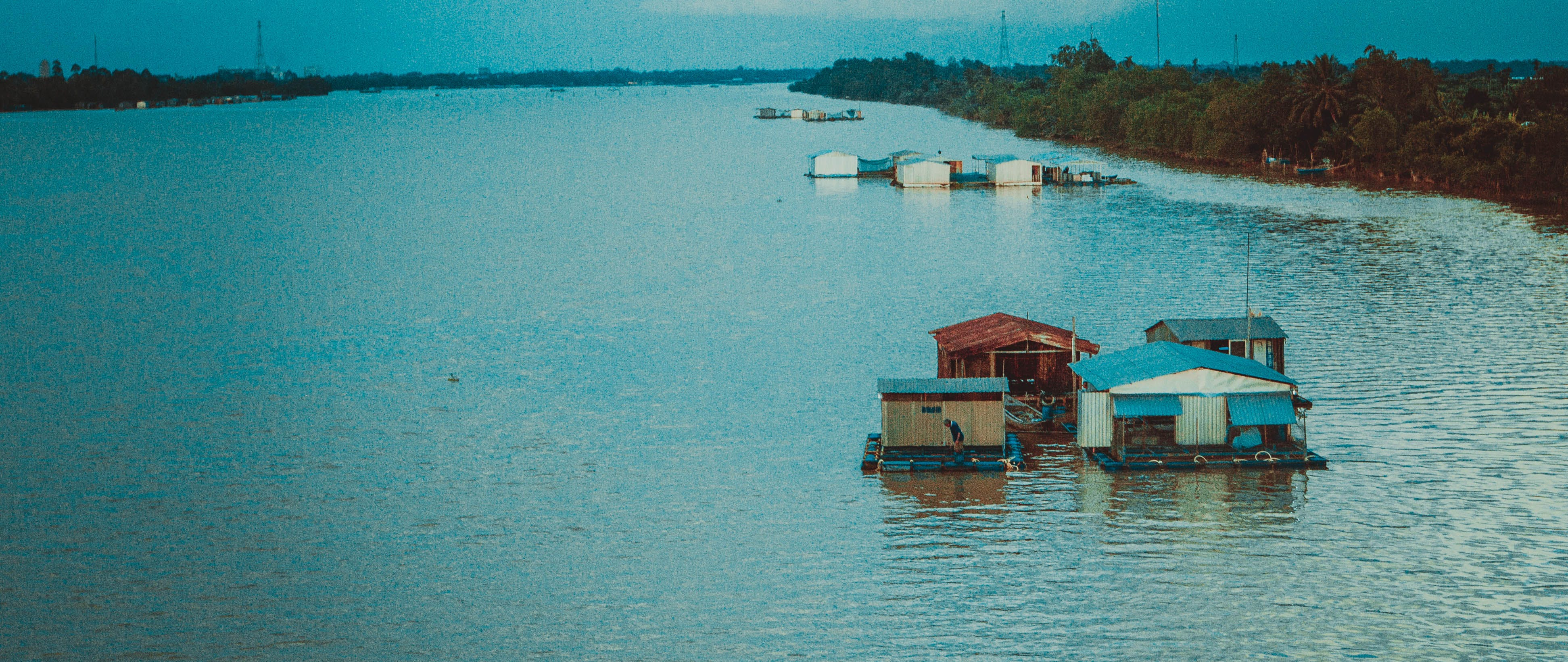 Free stock photo of boathouse, vietnam
