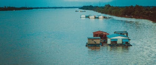 Immagine gratuita di casa-barca, vietnam