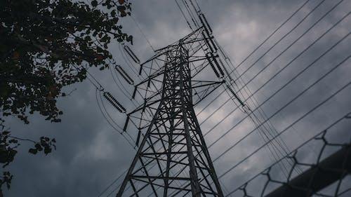 구름, 울타리, 전기, 전기의의 무료 스톡 사진