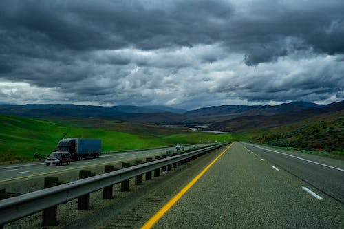 Free stock photo of highway, storm, stormy