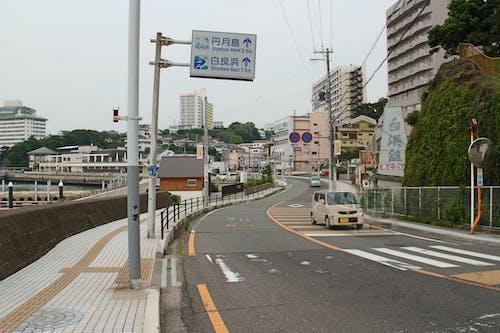 Free stock photo of beach, car, japan