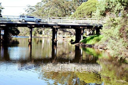 Kostnadsfri bild av bil, bro, flod, flodbank