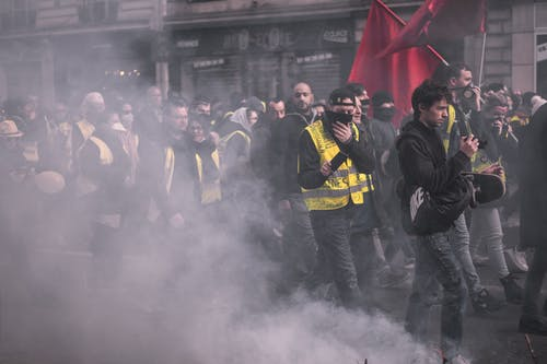 Imagine de stoc gratuită din franța, giletsjaunes, jaunes, manifestare