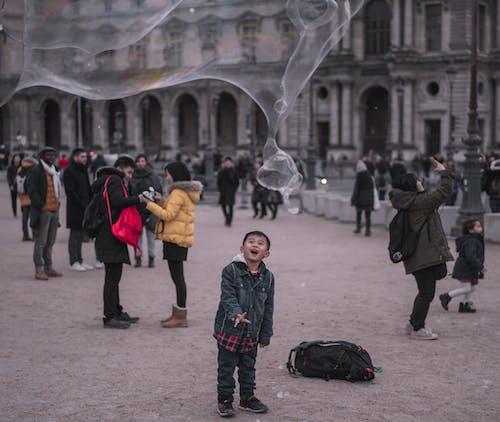 Imagine de stoc gratuită din baloane de aer, balon, copii, Paris