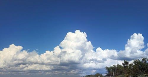 Kostnadsfri bild av hav av moln, moln, molnbildning, vita himlen