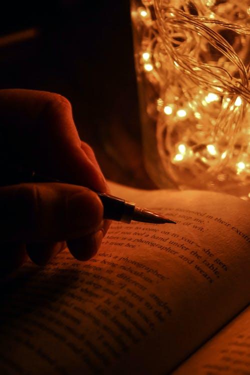 caneta, fada, luzes de Natal
