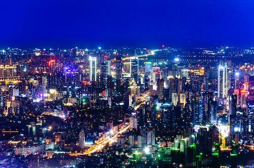 Free stock photo of multi-storey building, night view, urban