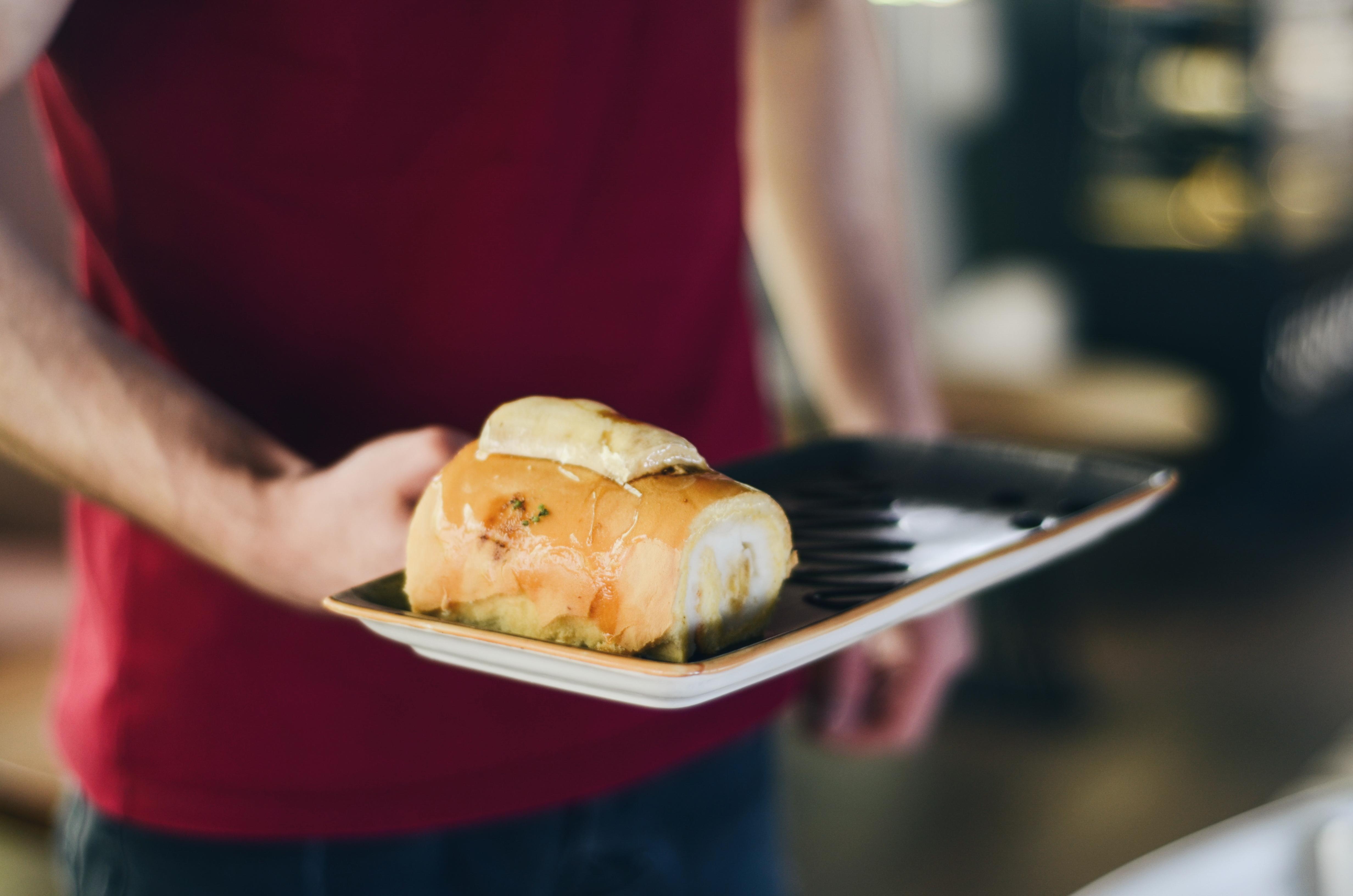 Man Serves Stuffed Bread