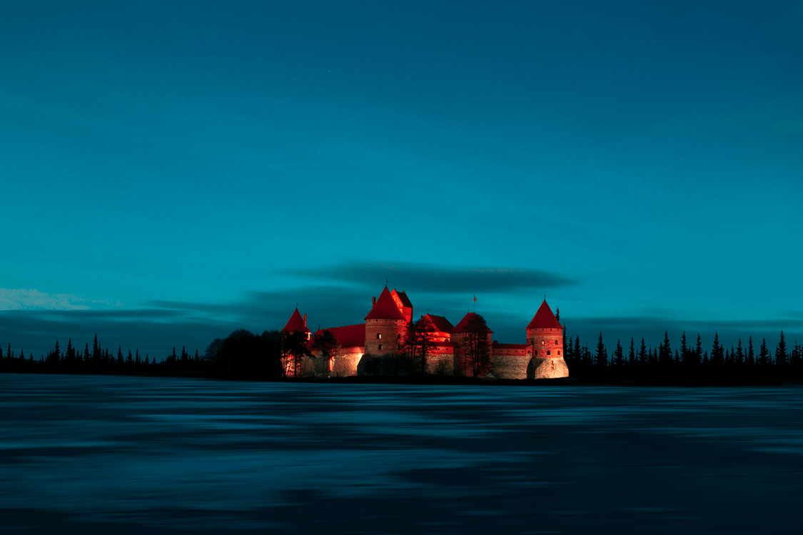 Structural Photography of Castle during Nighttime