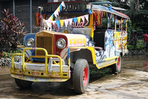 Free stock photo of colors, jeep, Jeepney