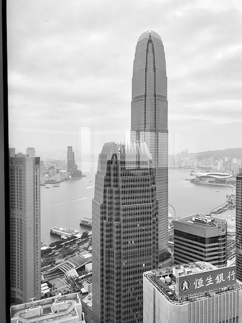 Fotobanka sbezplatnými fotkami na tému architektúra, budovy, centrum mesta, čierna a biela