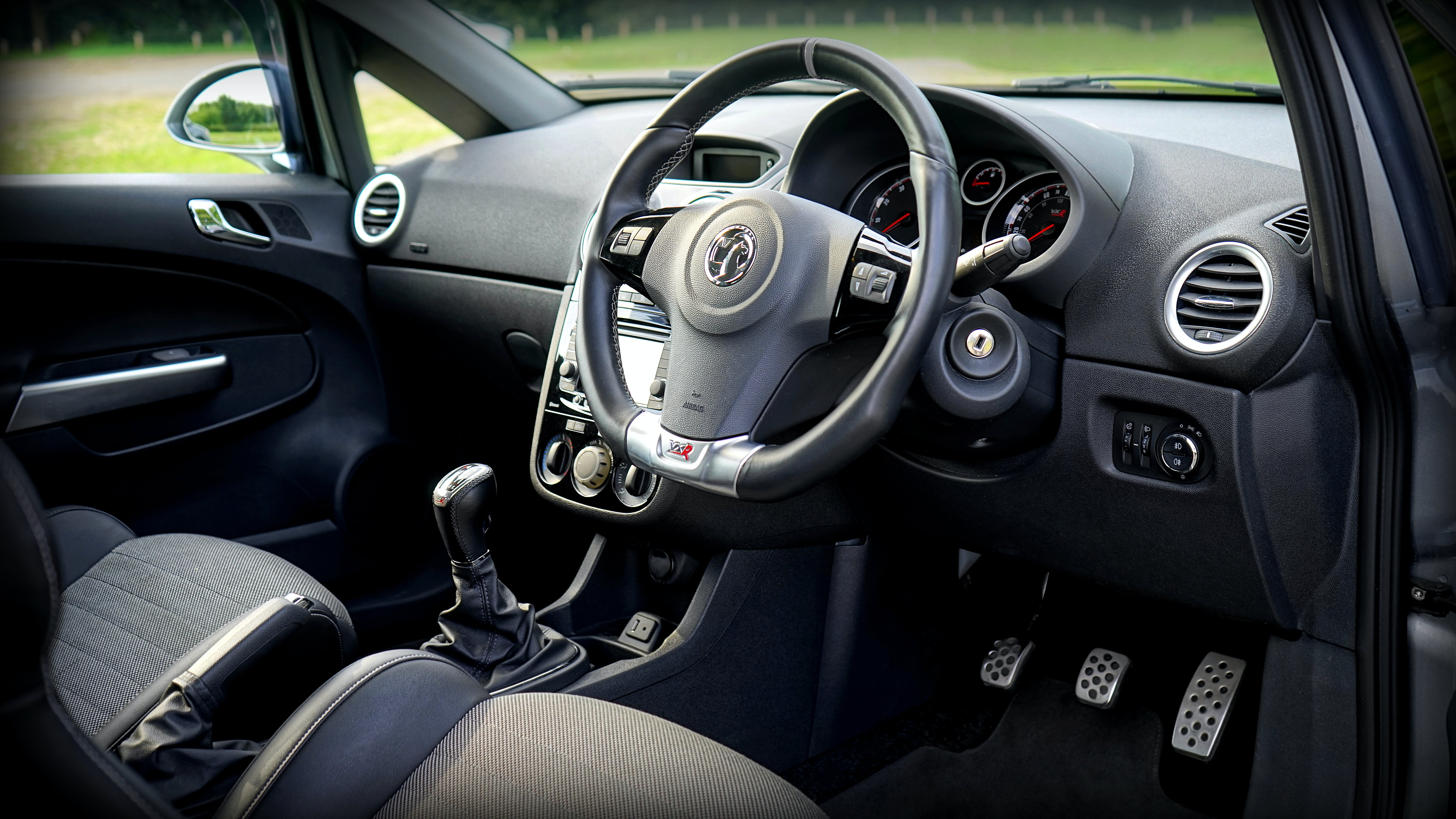 Black Car Steering Wheel