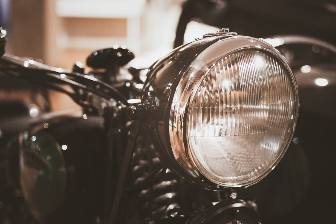 clásico, moto, motocicleta
