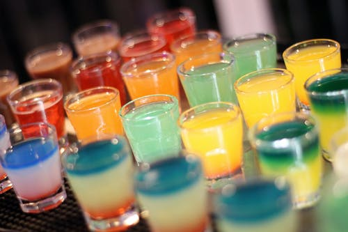 Free stock photo of colors, drinks, shot glass