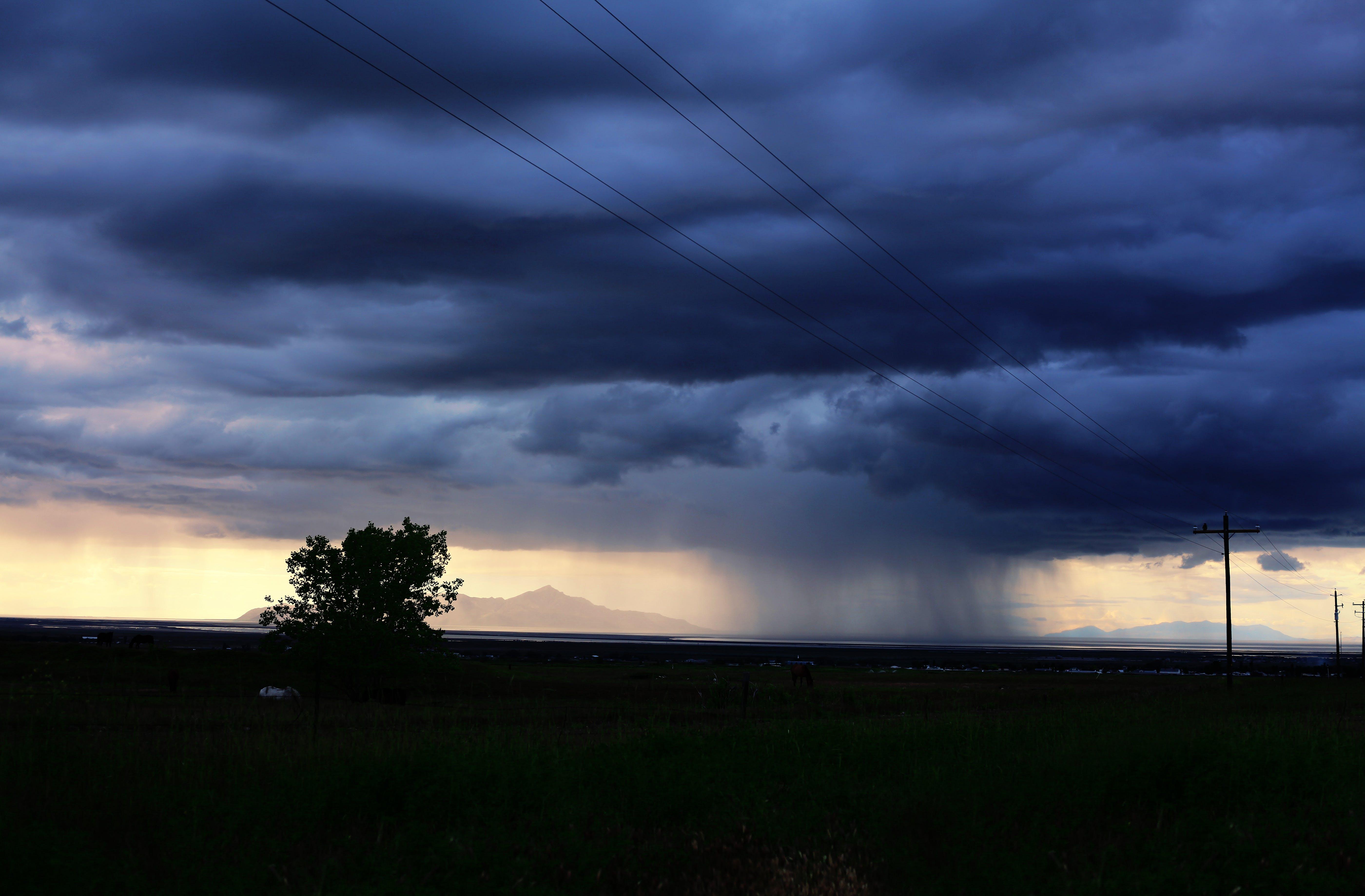 Foto stok gratis angin ribut, awan, awan gelap, bentangan awan