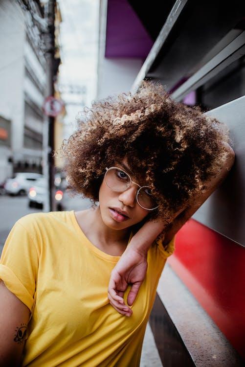 Афро, волос, волосы