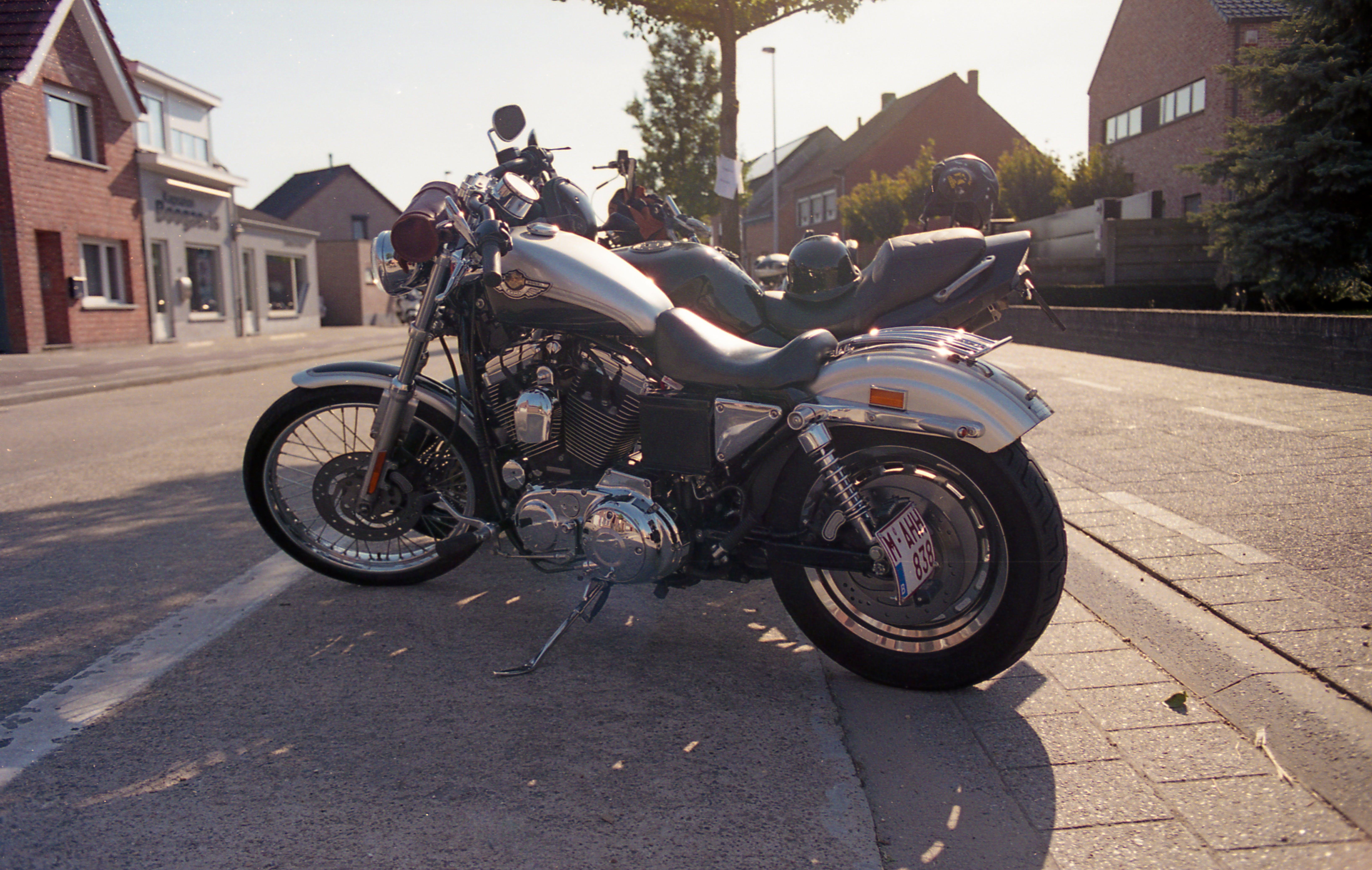 Free stock photo of bike, chrome, golden hour, harley davidson