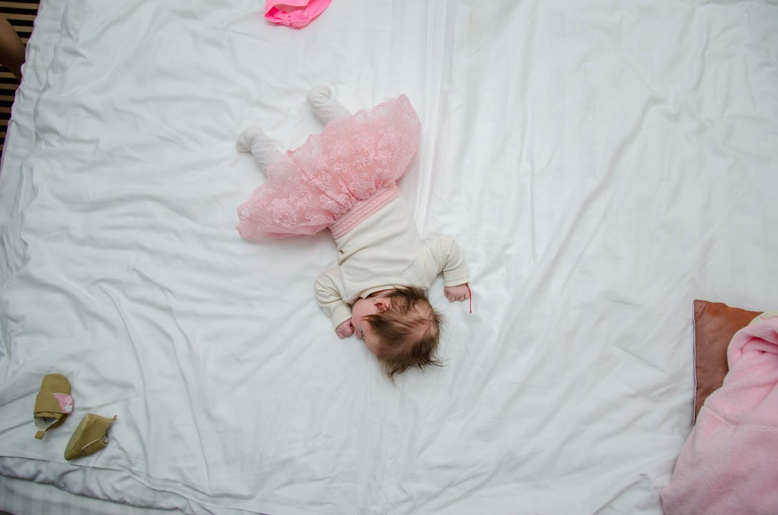 Baby's White and Pink Outfit